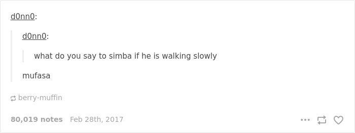Disney Tumblr Posts Mufasa