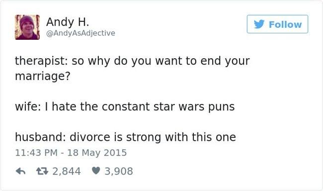 divorce tweet