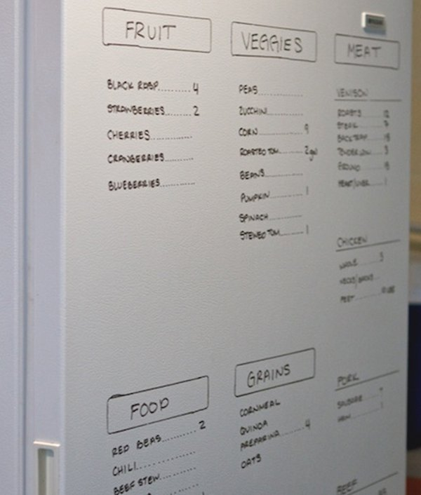 dry erase marker on fridge
