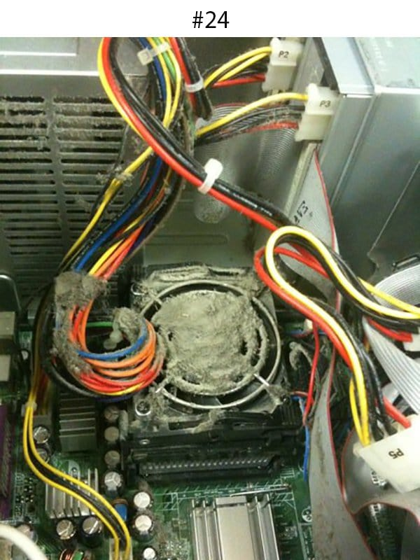 dust overheating drive