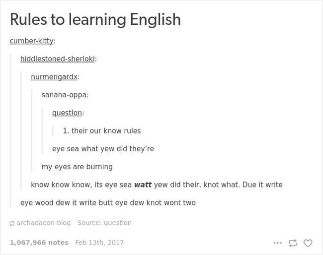 english language jokes rules