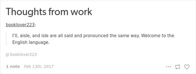 english language jokes work thoughts