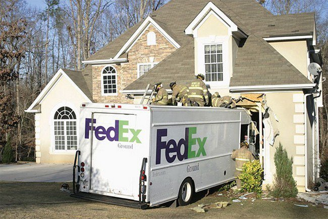 fed ex truck house