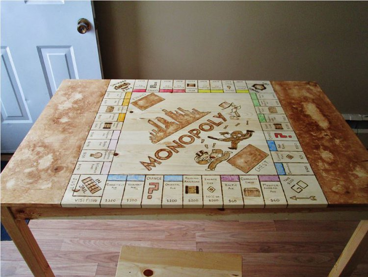This Guy Turned His Kitchen Table Into The Best Monopoly Board I