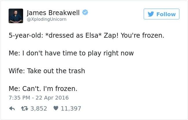 frozen tweet