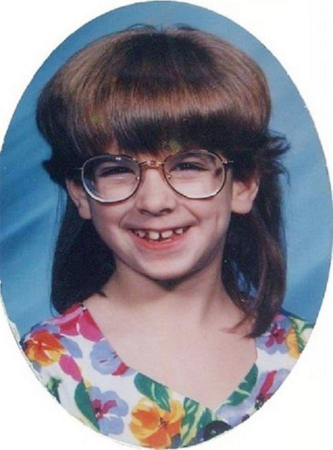 funny 80s 90s hairstyles glasses girl