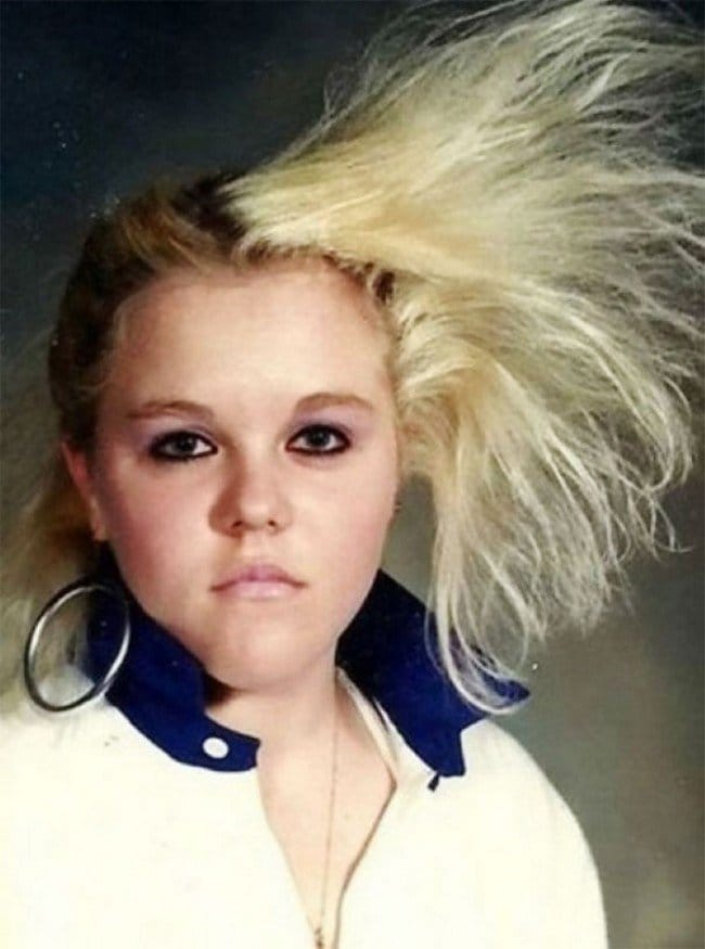 funny 80s 90s hairstyles one side bushy