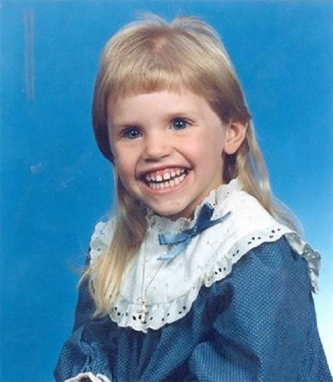 funny 80s 90s hairstyles teeth short fringe