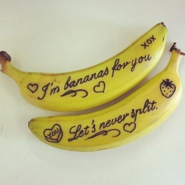 funny love notes banana split