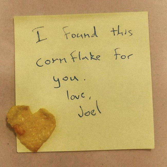 funny love notes cornflake gift