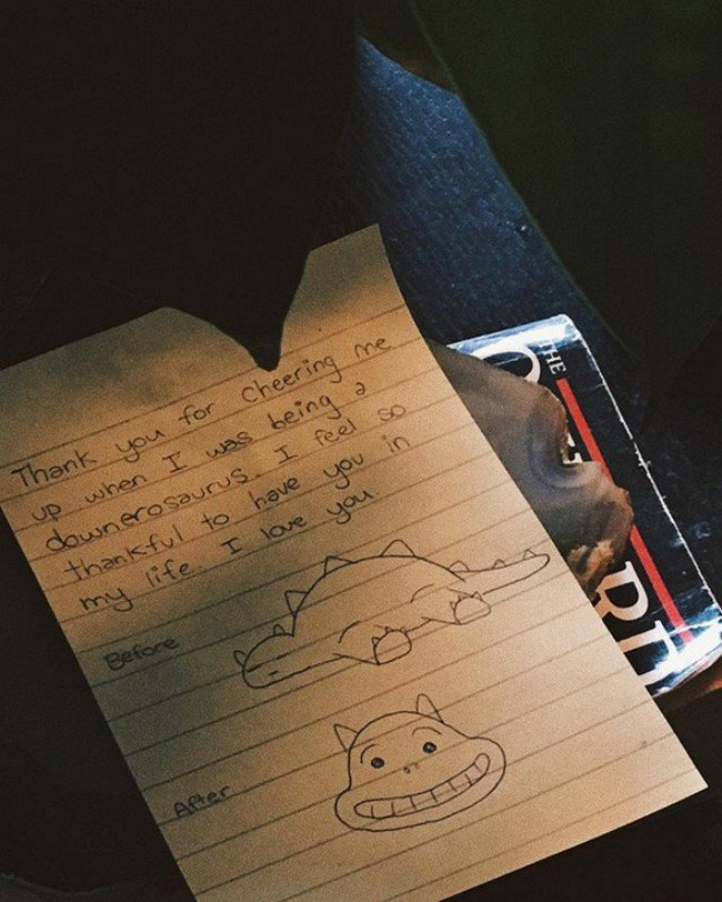 funny love notes downersaurus
