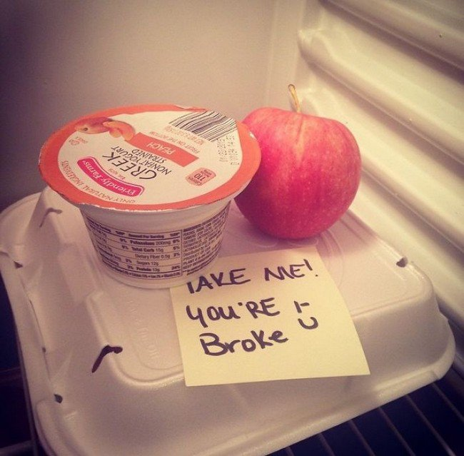funny love notes lunch broke