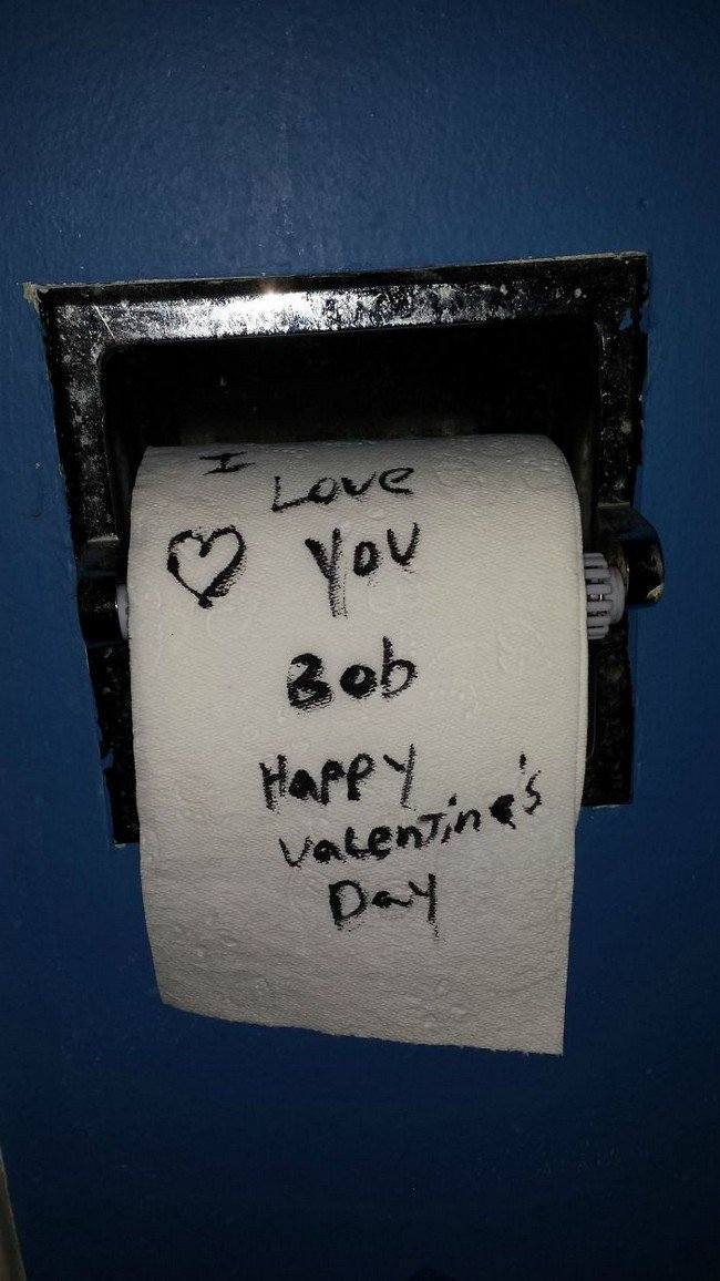 funny love notes toilet roll
