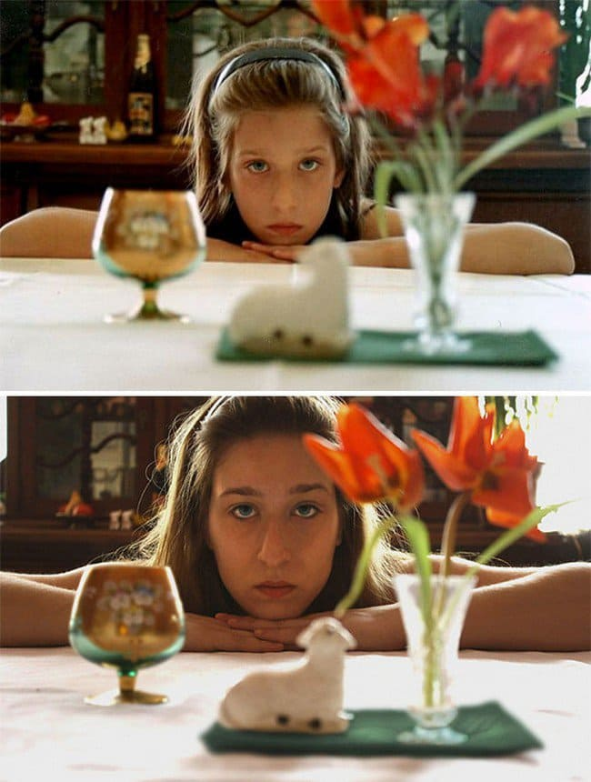 girl table kid adult