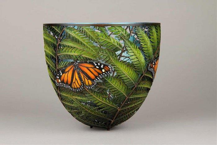 gordon pembridge wood carving butterfly leaves