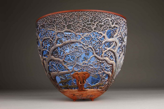 gordon pembridge wood carving elephant trees