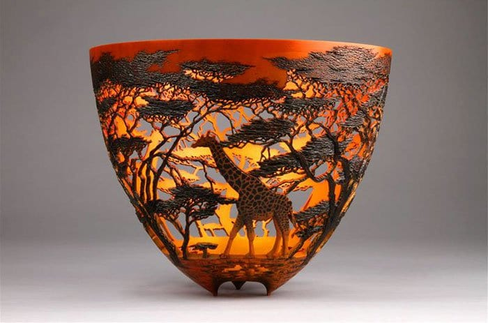 gordon pembridge wood carving gifarre sunset