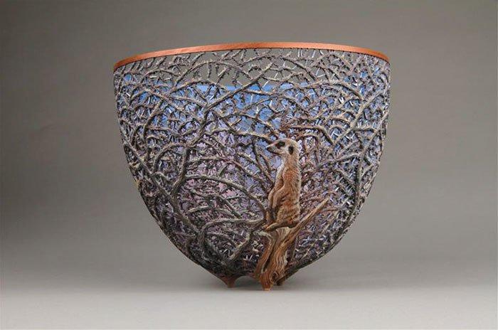 gordon pembridge wood carving meerkat