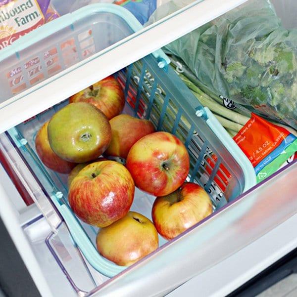 grab and go basket fridge