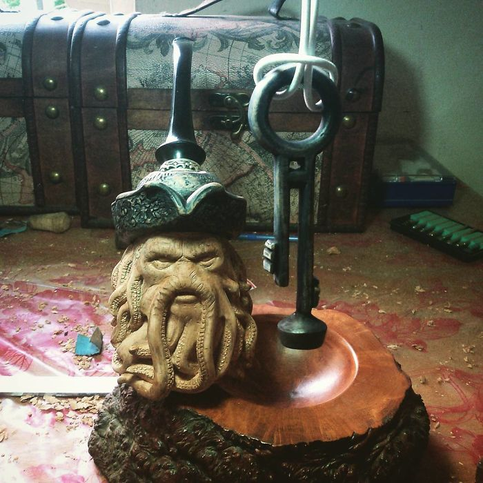 hand carved davy jones pipe