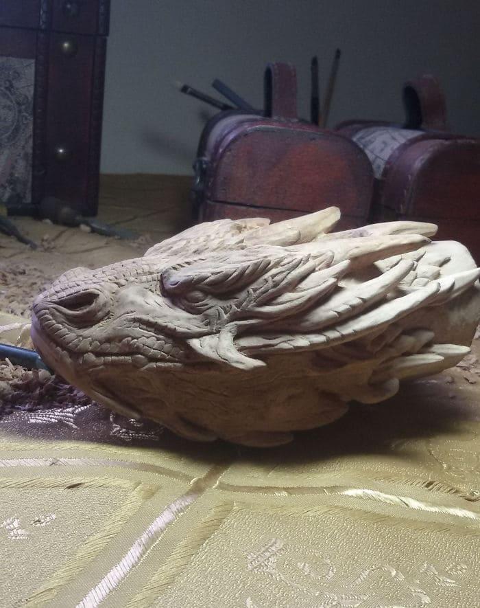 hand carved detailing