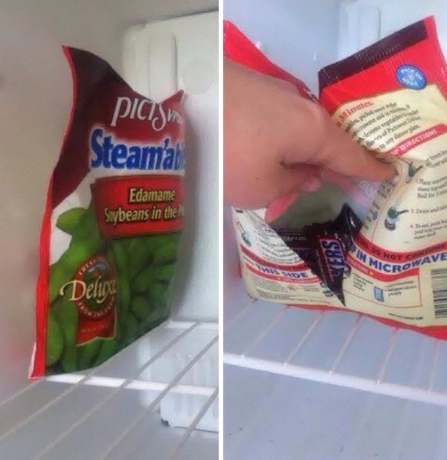 hidden candy bag