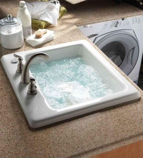 home improvements a sink with jets in laundry room