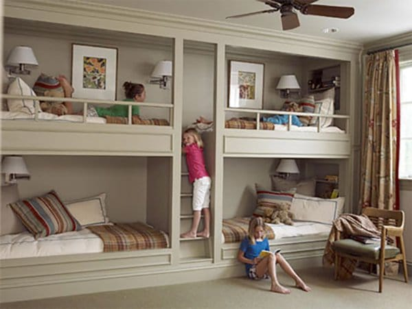 home improvements built in bunk beds
