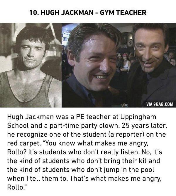 hugh jackman gym teacher