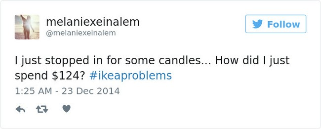 ikea jokes candles tweet