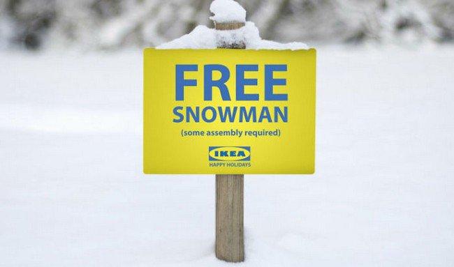 ikea jokes free snowman
