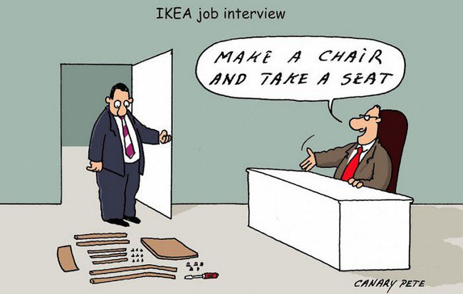 ikea jokes interview chair
