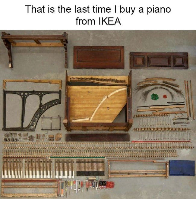 ikea jokes piano assembly