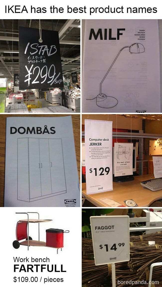 ikea jokes strange names
