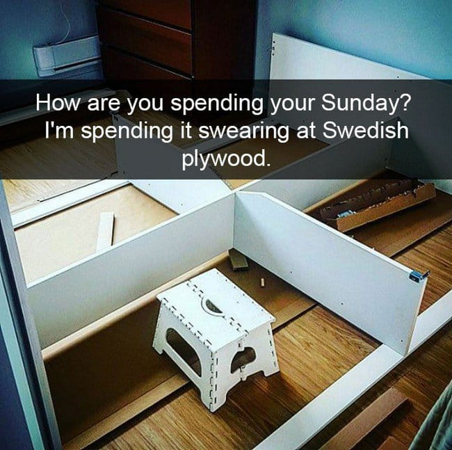 ikea jokes sunday swearing