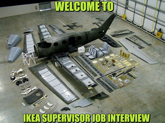 ikea jokes supervisor interview assemble