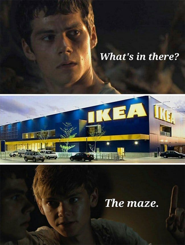 ikea jokes the maze