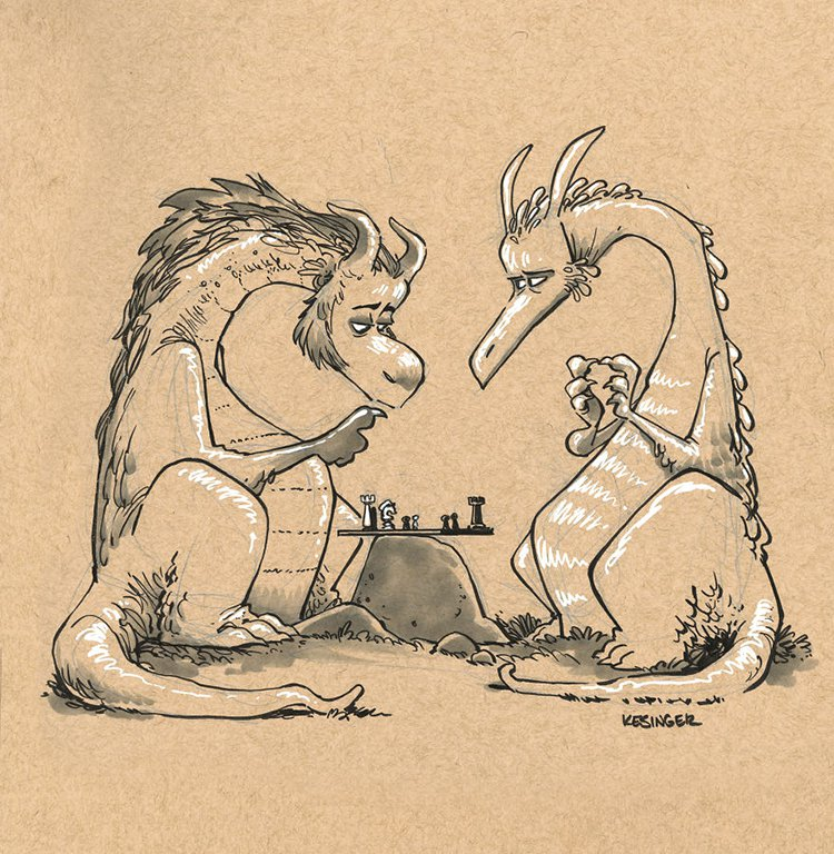 kesinger dragon dormar the ponderer and seerfin the impatient