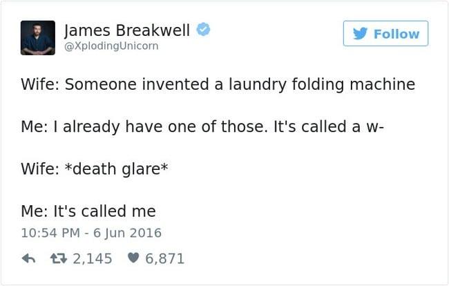 laundry folding tweet