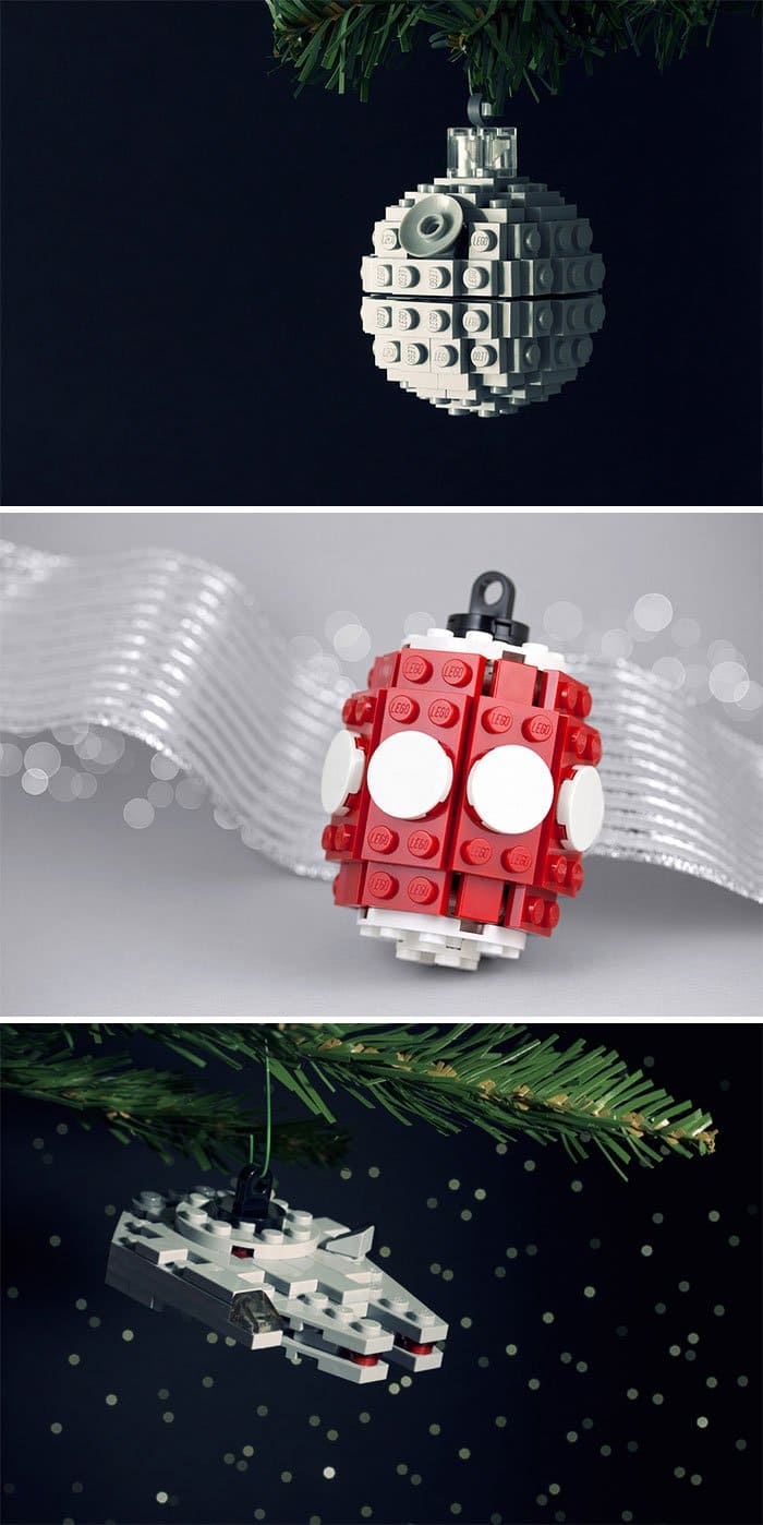lego holiday ornamens