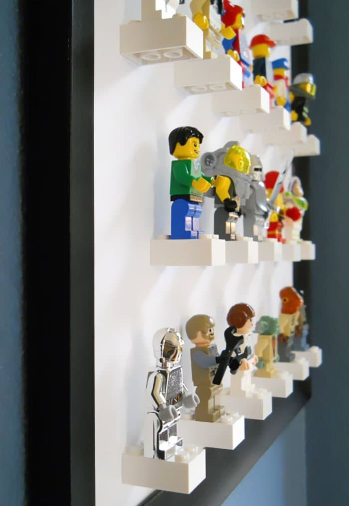 lego mini figure display art