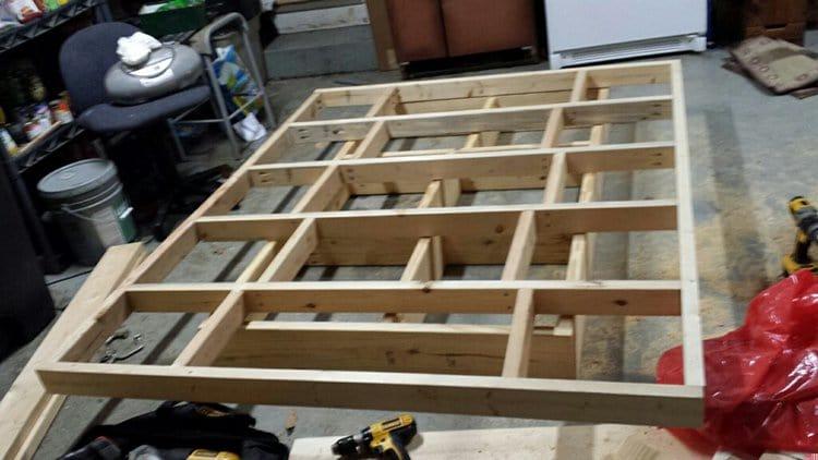 levitating bed frame put together