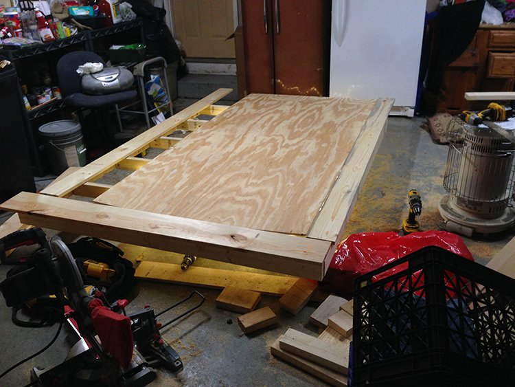 levitating bed piecing together