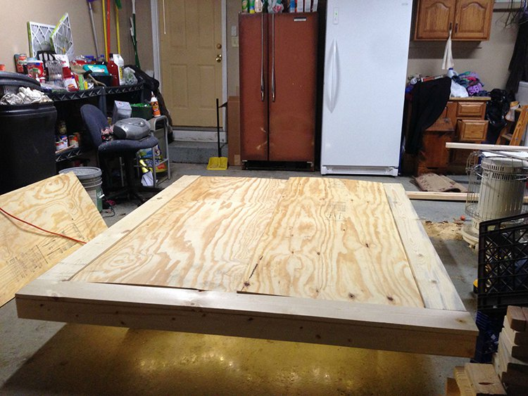 levitating bed wood put together