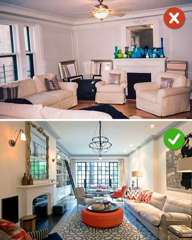 living room comparison