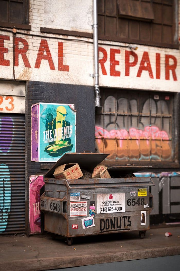 miniature-architecture-joshua-smith dumpsters