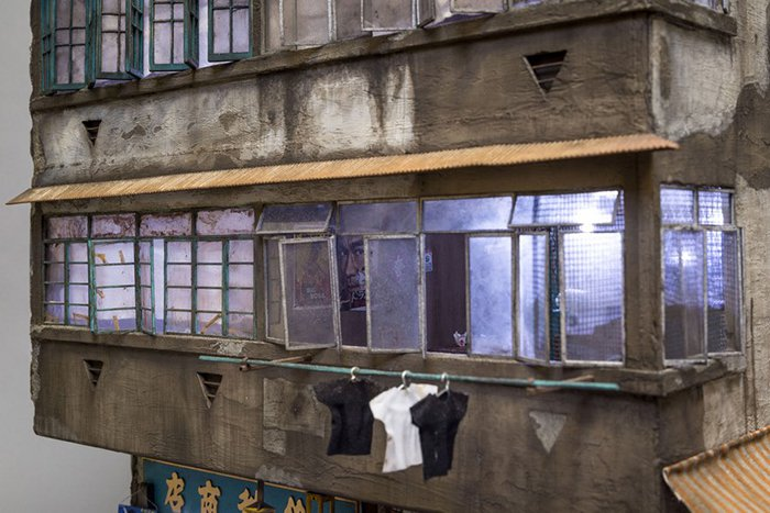 miniature-architecture-joshua-smith hanging clothes