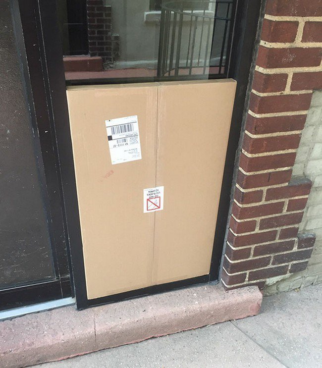 package blocking door