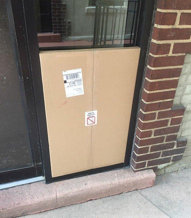 package blocking door