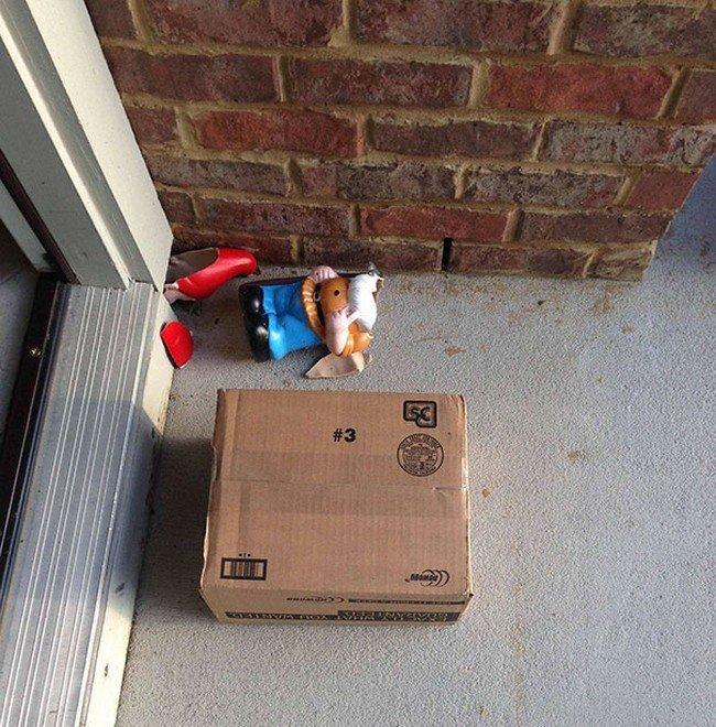 parcel broken gnome